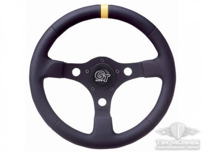 Black Spoke Wheel With Yellow Stripe