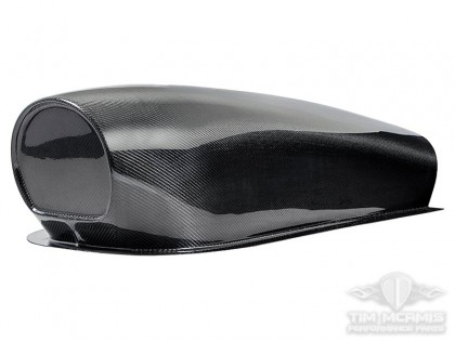 Large Oval Hood Scoop - Clear Carbon